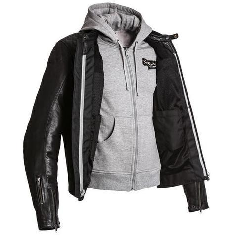 Segura Mens Style Motorcycle/Bike Hoodie Jacket|Cowhide Leather|CE Approved|Black Thumbnail 4