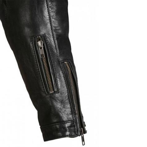 Segura Mens Style Motorcycle/Bike Hoodie Jacket|Cowhide Leather|CE Approved|Black Thumbnail 6