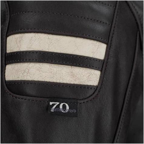 New Segura Lady Stripe Motorcycle/Bike Female Jacket|BuffaloLeather|Body-Fit|CE Protector|Brown Thumbnail 4