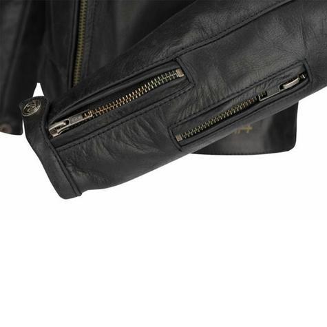 New Segura Lady Stripe Motorcycle/Bike Female Jacket|Buffalo Leather|Body-Fit|CE Protector|Black Thumbnail 5