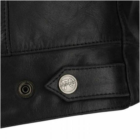 New Segura Lady Stripe Motorcycle/Bike Female Jacket|Buffalo Leather|Body-Fit|CE Protector|Black Thumbnail 6