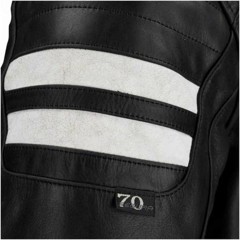 New Segura Stripe Motorcycle/Bike Men Buffalo Leather Jacket|Body-Fit|CE Approved|Black Thumbnail 4
