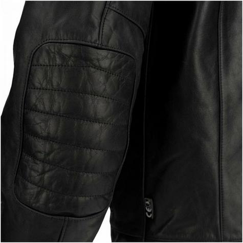 New Segura Stripe Motorcycle/Bike Men Buffalo Leather Jacket|Body-Fit|CE Approved|Black Thumbnail 6