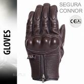 Segura Connor Motorcycle/Bike Mid-Seasons Textile Glove|Soft|Watreproof & Breathable|CE|Brown