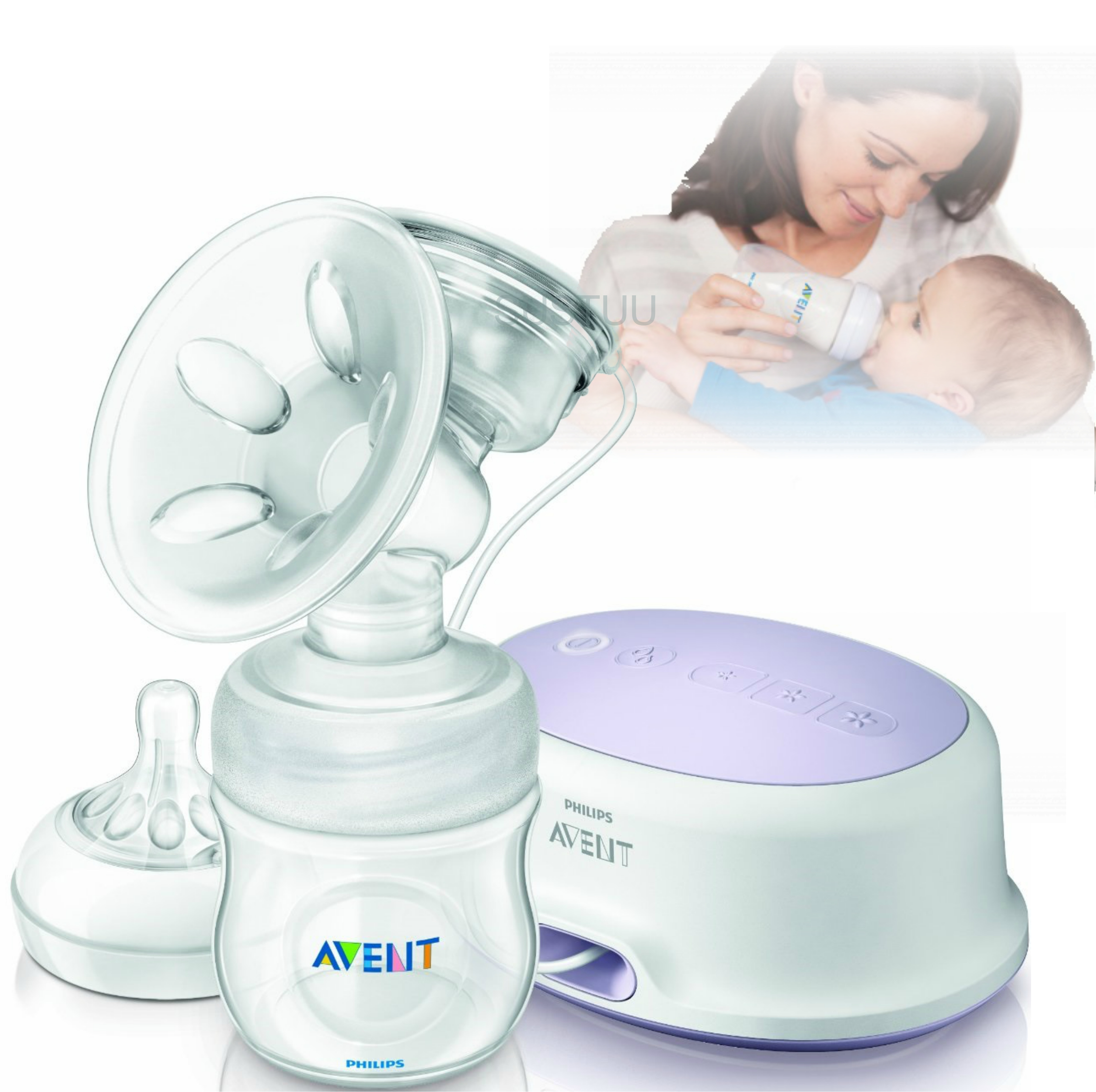 Philips Avent SCF332 Single Electric Breast Pump With Natural Shaped Soft Nipple