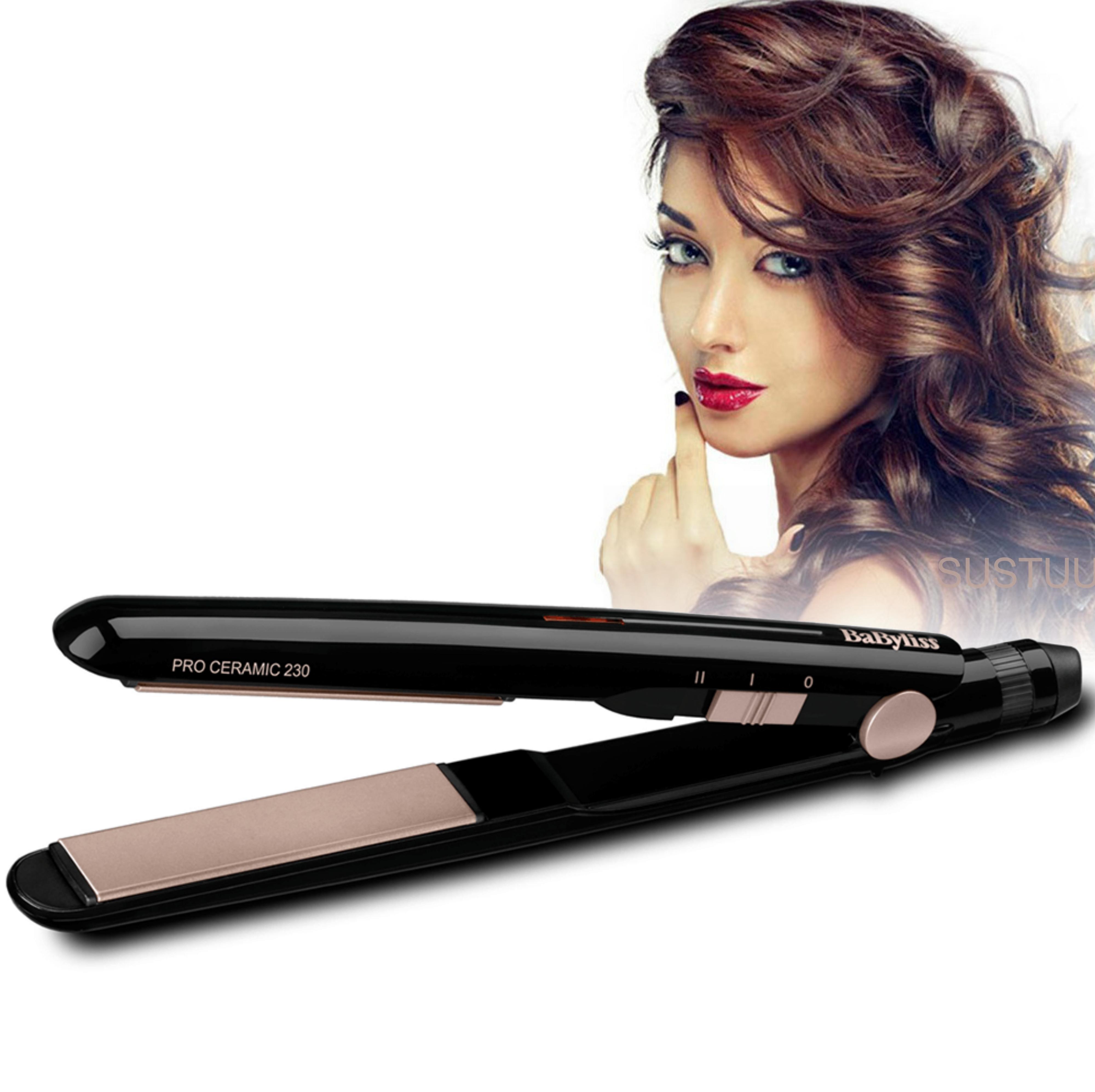 BaByliss 2069U New Pro Ceramic 230°C Hair Straightner|Flicks-Waves-Curls|Black|