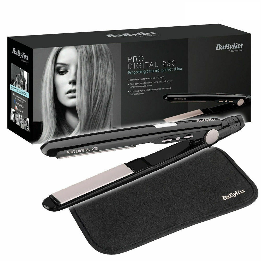 Babyliss 2079U Pro Digital Hair Straightener Curl/Straight 5 Heat Setting 230°C