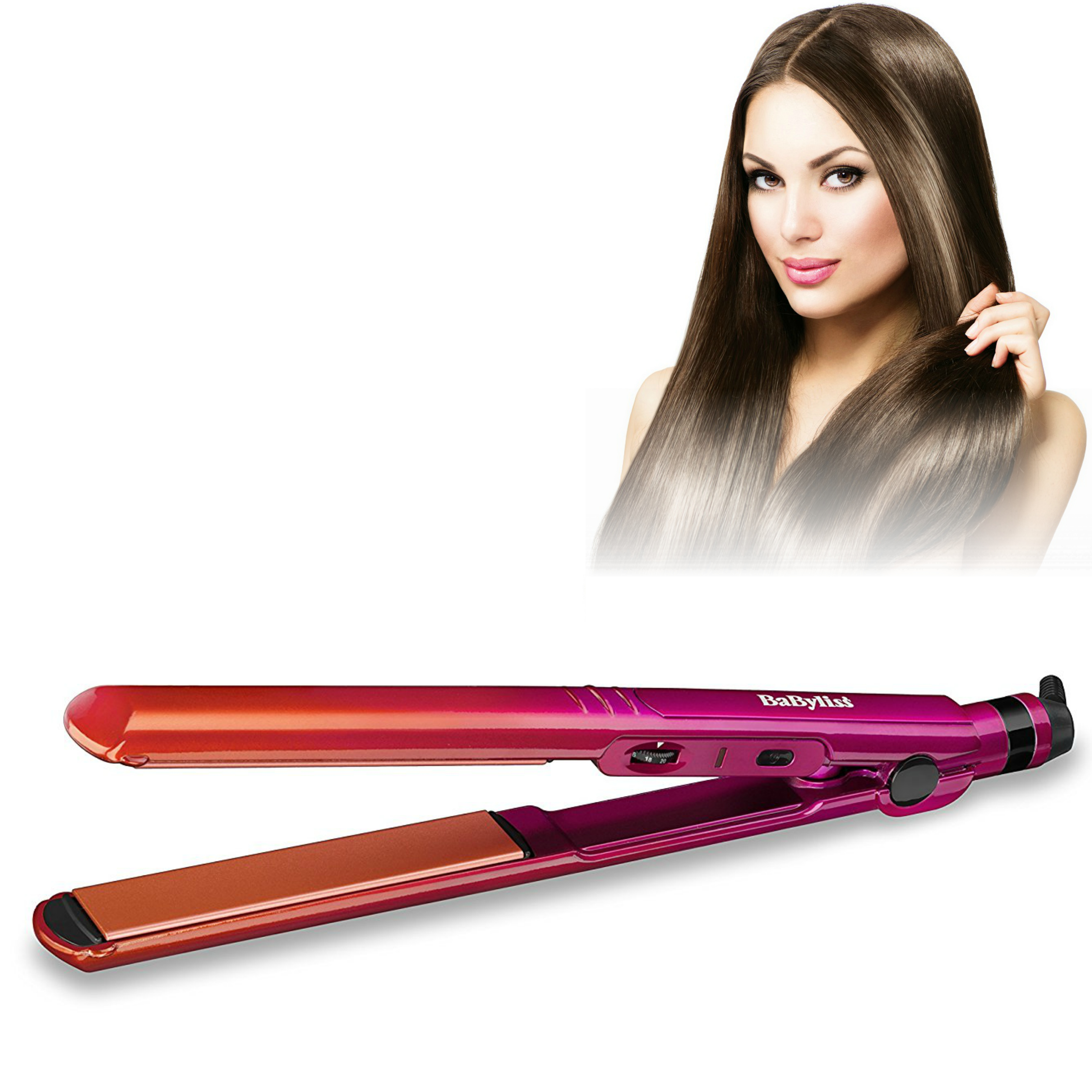 Babyliss 2084U Ombre Straightener|Multi Voltage|Titanium-Ceramic Finish|235°C