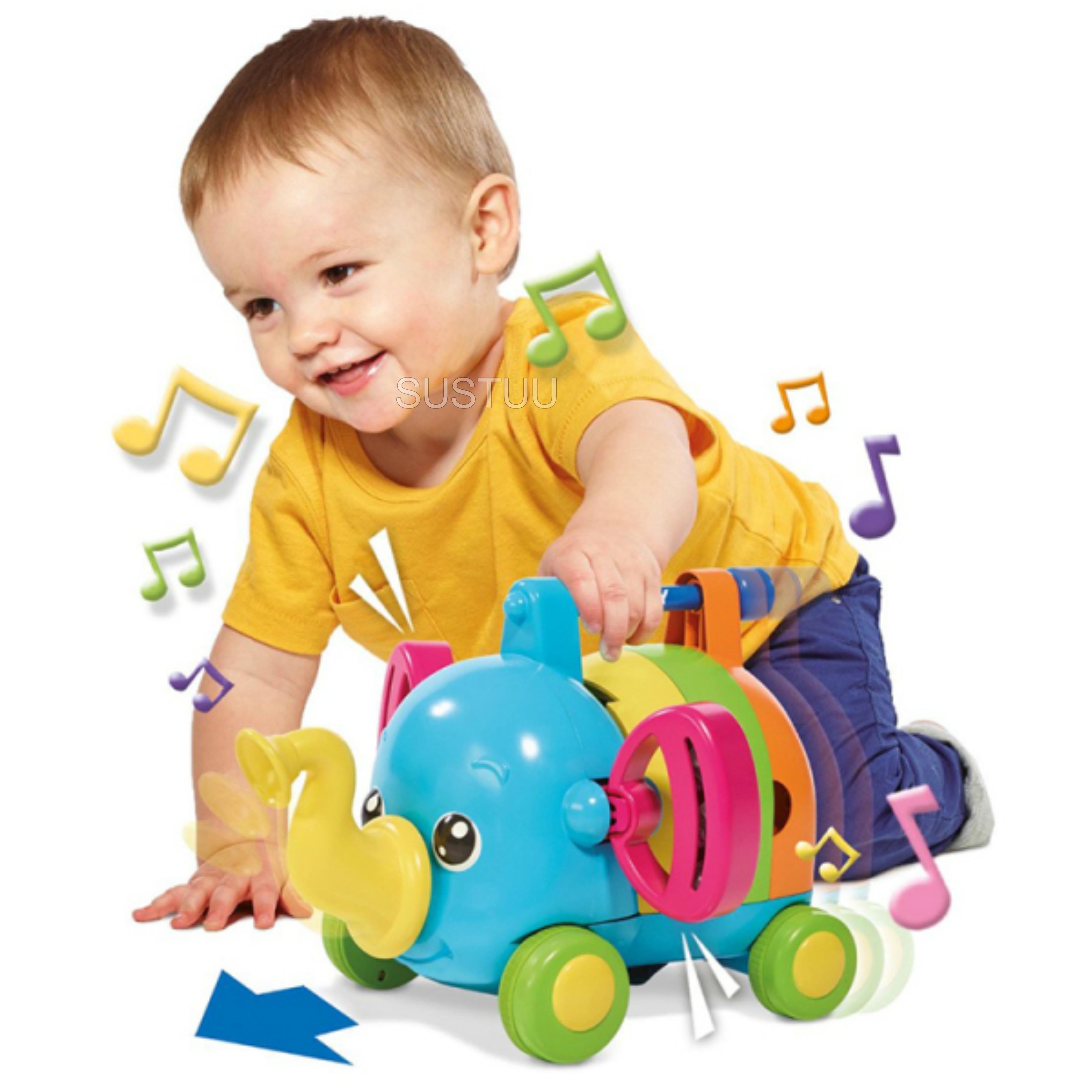 TOMY E72377 Jumbo Jamboree Musical Elephant Sound Puzzle Infant 12+ Kid Toddler