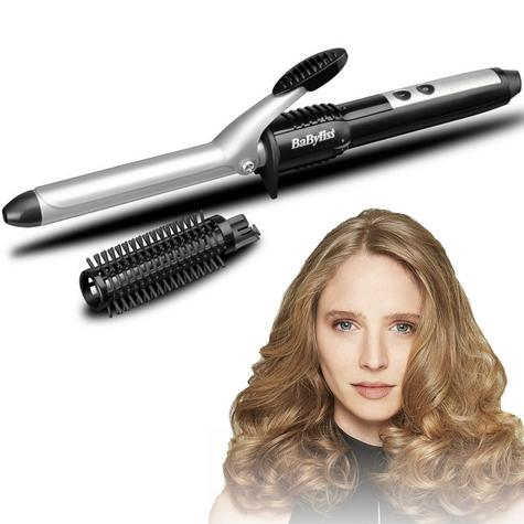 BaByliss 2284U Pro 19 mm Ceramic Coated Barrel Curling Tong With Brush Sleeve Thumbnail 1