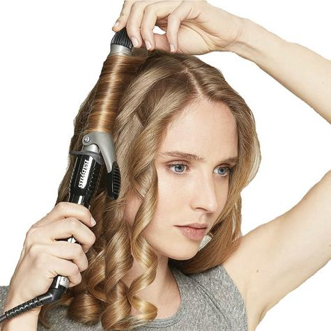 BaByliss 2284U Pro 19 mm Ceramic Coated Barrel Curling Tong With Brush Sleeve Thumbnail 5