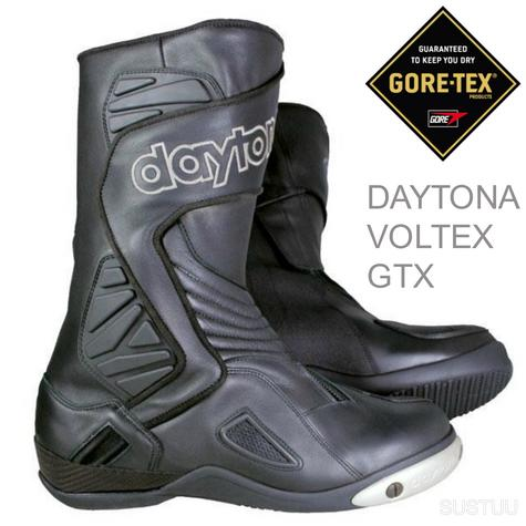 Daytona Voltex GTX Motorcycle/Bike Leather Boots|Waterproof & Breathable|Black|All-Sizes Thumbnail 1