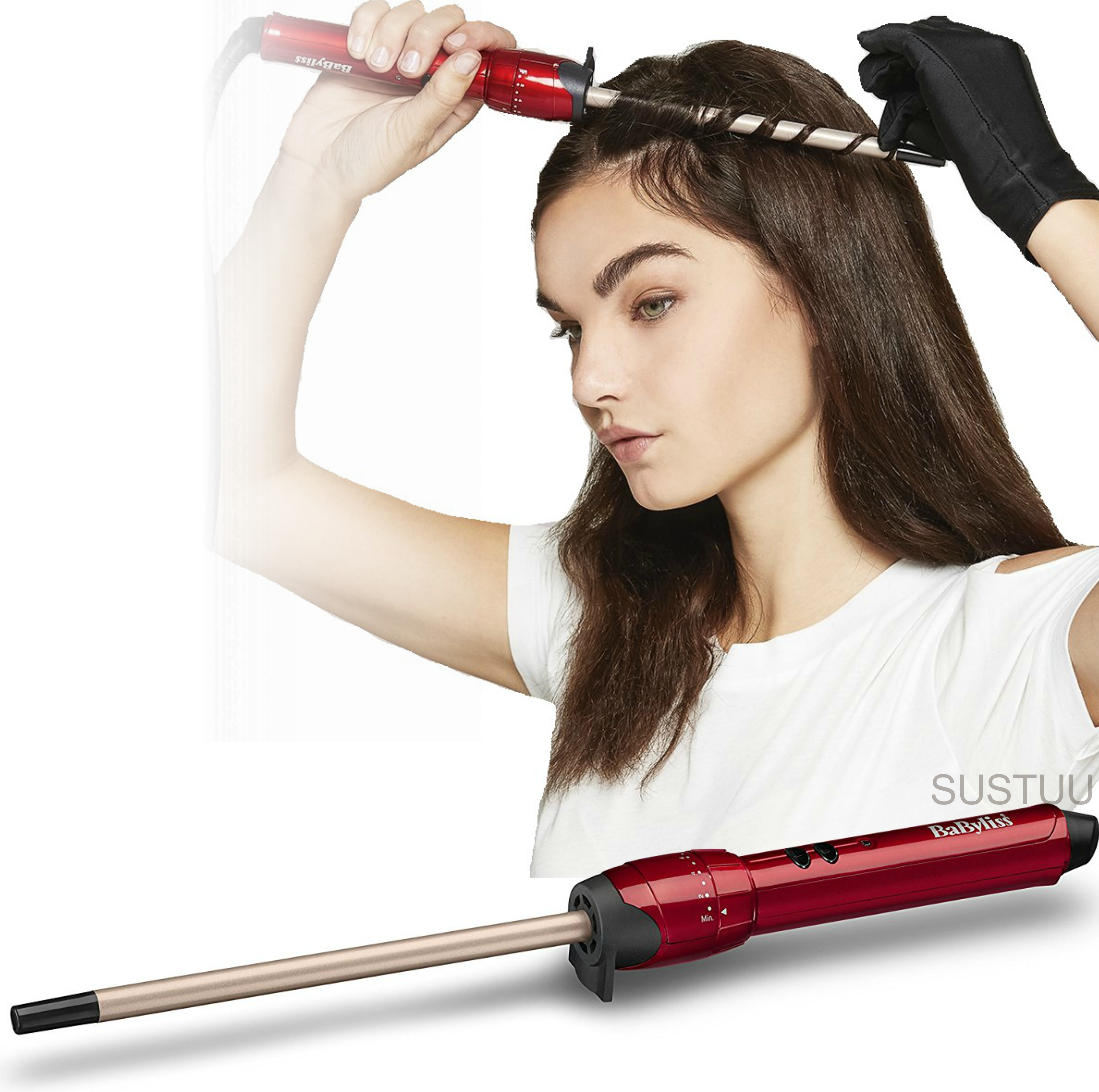 Babyliss 2385U Tight Curls Wand Hair Styler|Extra Long|Ultra Slim|10mm Barrel|