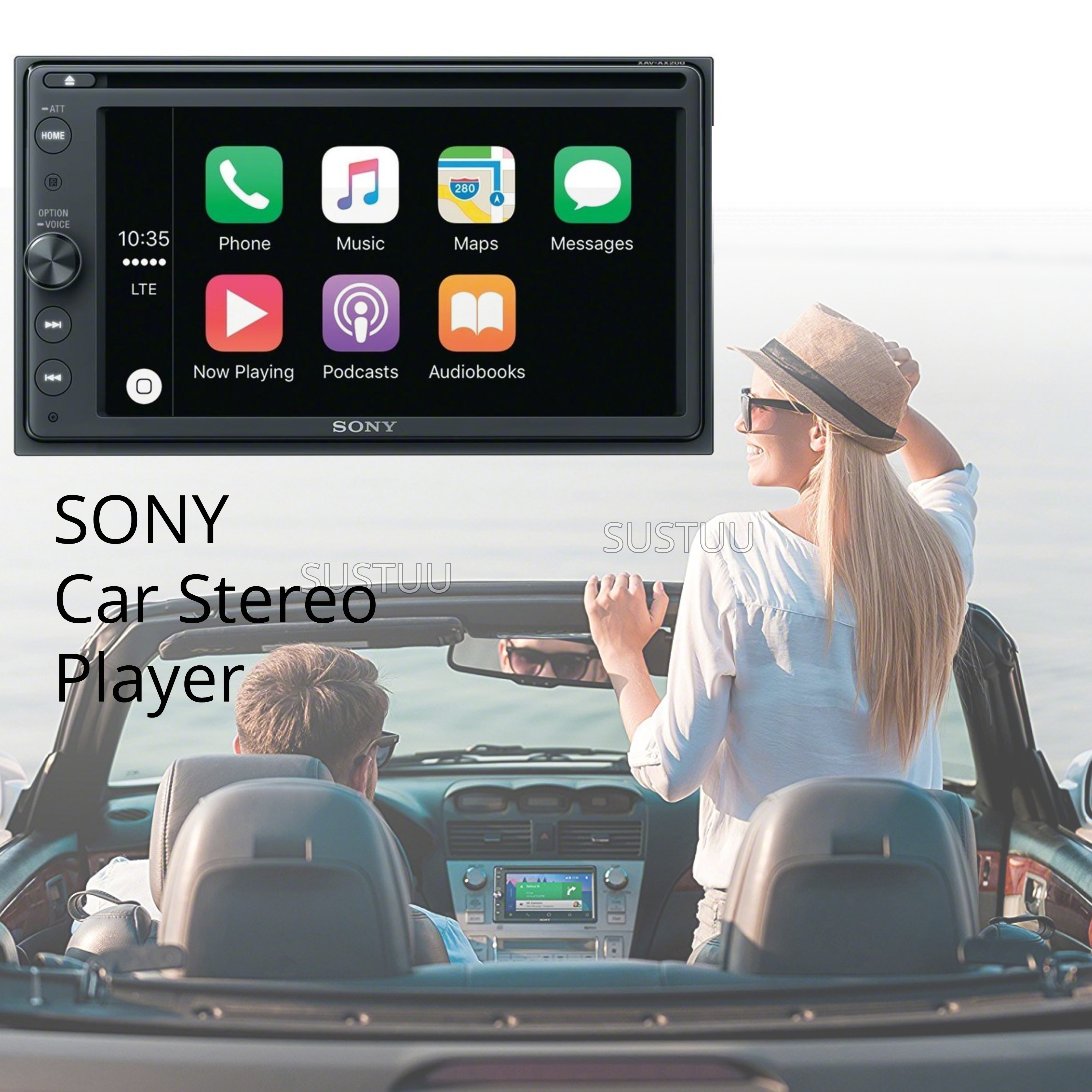 Sony Car Stereo | DVD Player | 2-Din Media Receiver | Android Auto
