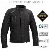 Bering Stomp GTX Motorcycle/Bike Textile Jacket|Gore-Tex|Waterproof & Breathable|CE Approved|Black