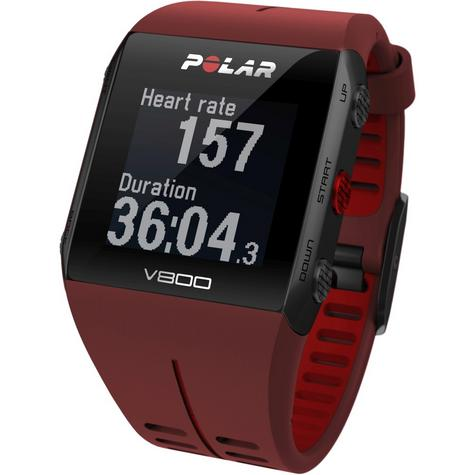 Polar UnisexV800 Bluethooth Heart Rate Monitor GPS Smart Alarm Chronograph Watch - Red Thumbnail 4