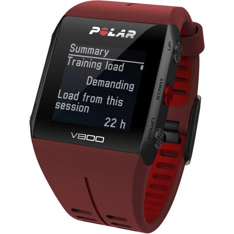 Polar UnisexV800 Bluethooth Heart Rate Monitor GPS Smart Alarm Chronograph Watch - Red Thumbnail 6