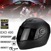 Scorpion EXO 490 Motorcycle/Bike Full Face Unisex Helmet|ECE 22-05 Certified|TUV Tested|Matt Black