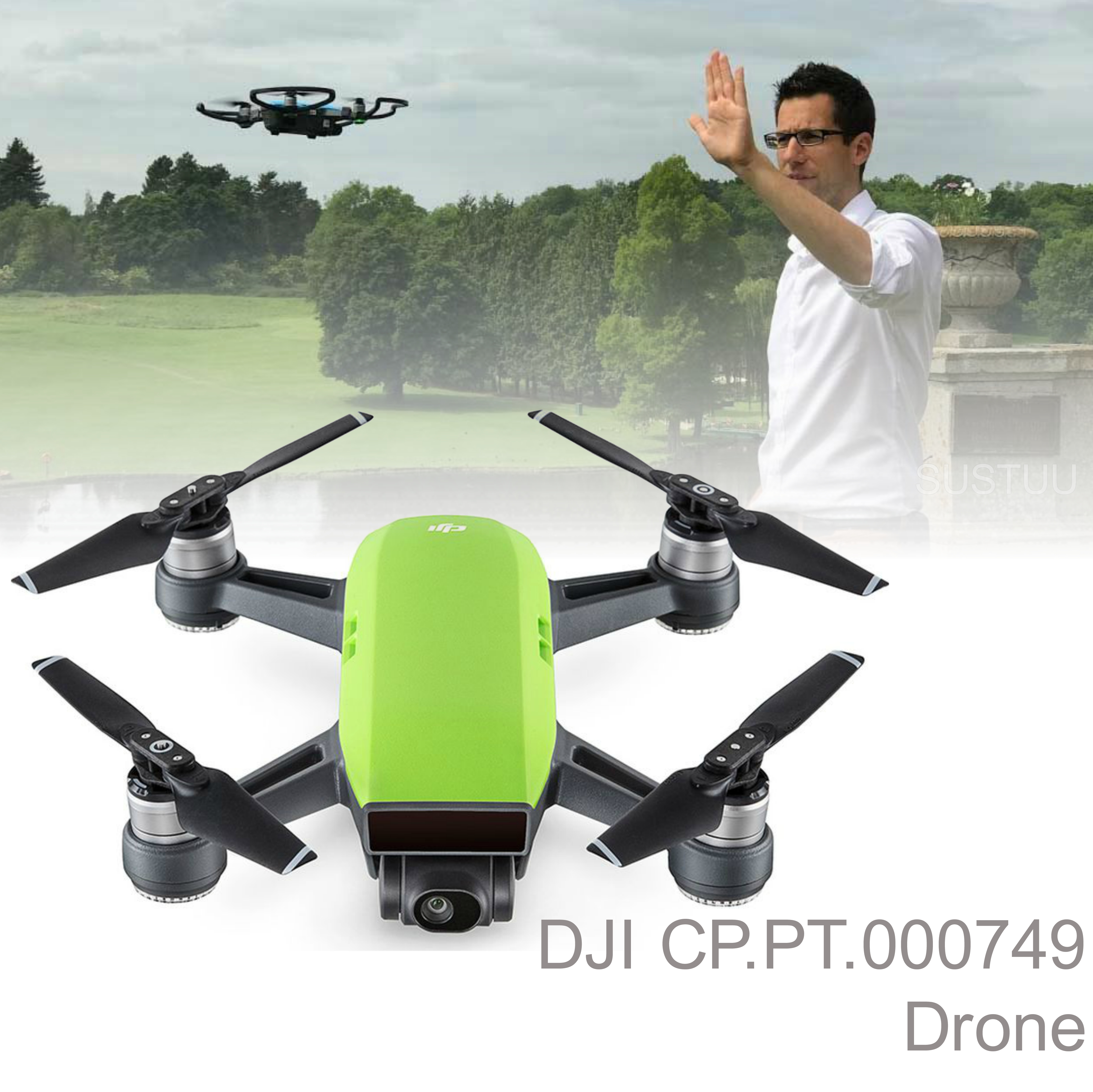 DJI CP.PT.000749 Spark|Open Sky Drone|with Automatic Edit Filters|Meadow Green