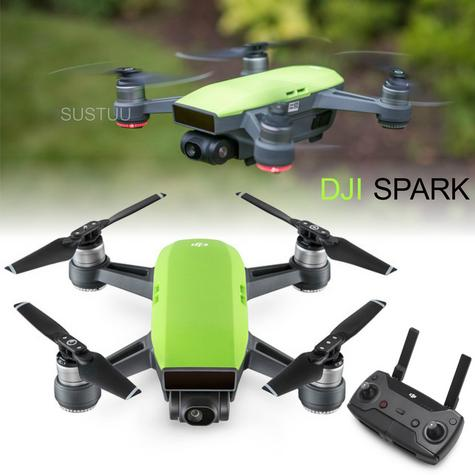 DJI Spark Quadcopter Mini Smart Camera Drone|Open Sky|1080p HD 12 MP|CP.PT.000749|M Green Thumbnail 1