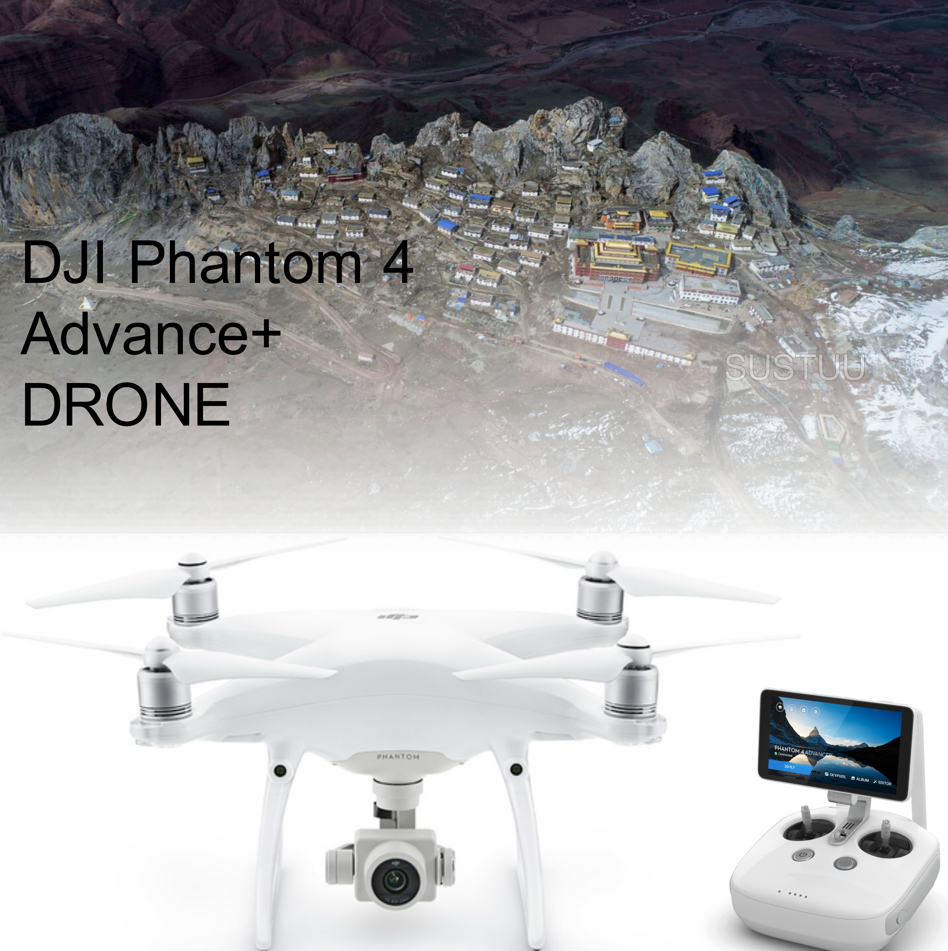 DJI Phantom 4 Advanced+ Drone|HD Video Transmission|5 Vision Sensor|CP.PT.000697