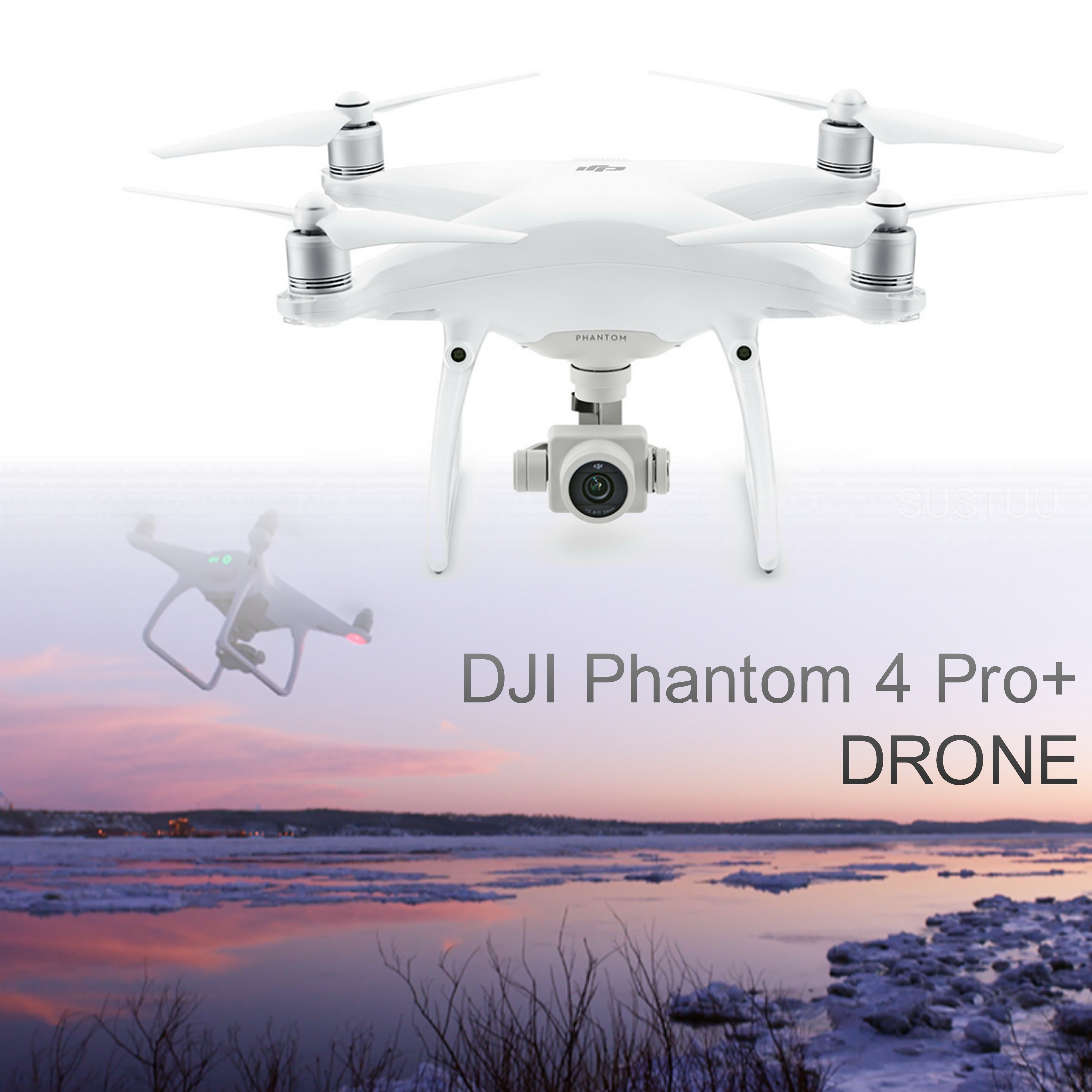 DJI Phantom 4 PRO Plus Quadcopter Drone|20MP|4K 60fps Camera|CP.PT.000548|White