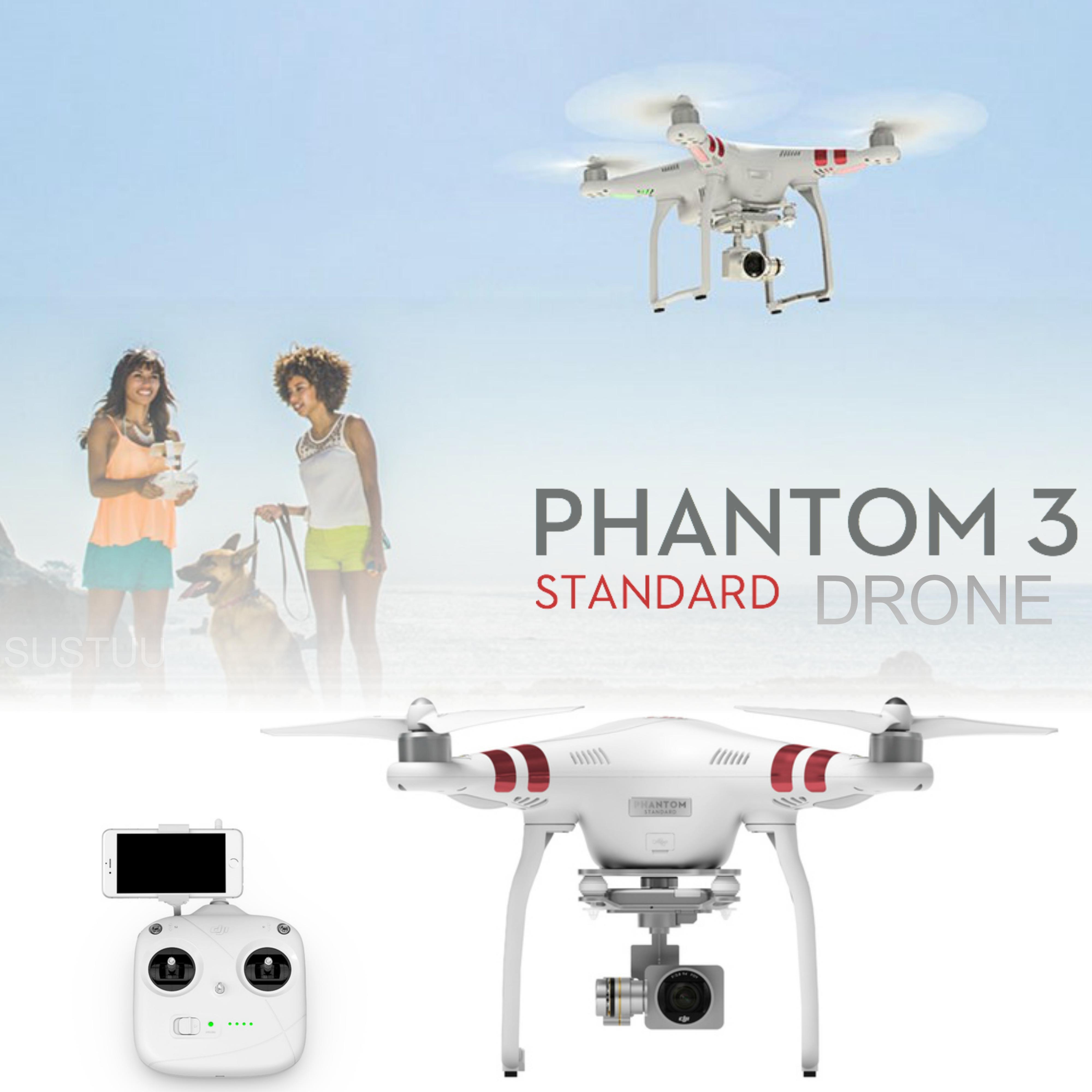 DJI Phantom 3 Standard Drone|12 MP 2.7K HD Video Camera|GPS Sender|CP.PT.000167