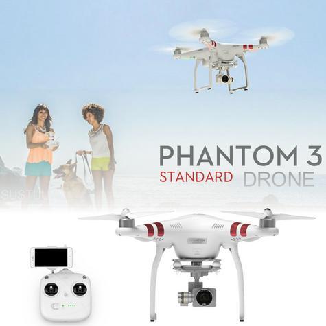 DJI Phantom 3 Standard Drone|12 MP 2.7K HD Video Camera|GPS Sender|CP.PT.000167 Thumbnail 1