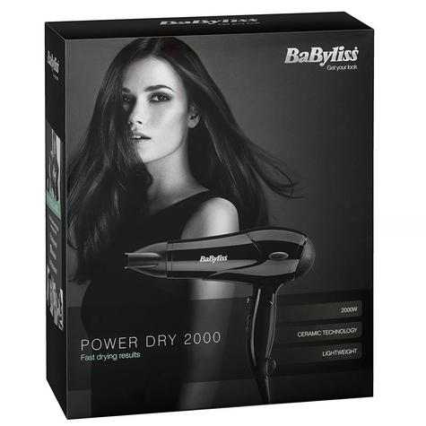 BaByliss 5245U Power Hair Dryer|3 Heat Setting|Cool Shot|1.8m Cord|2000W|Black Thumbnail 3