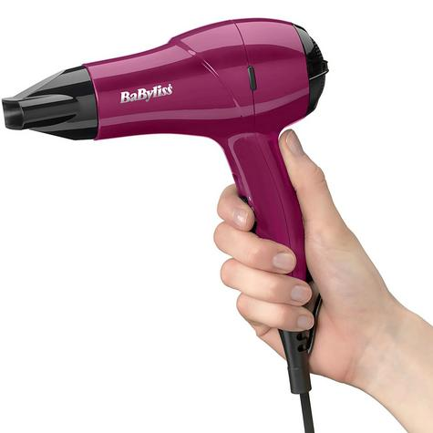 Babyliss 5282AU Nano Hair Dryer|Lightweight|2 Heat Mode|Dual Voltage|1200W|Pink| Thumbnail 3