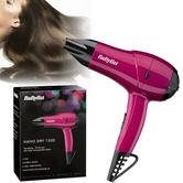 Babyliss 5282AU Nano Hair Dryer|Lightweight|2 Heat Mode|Dual Voltage|1200W|Pink|