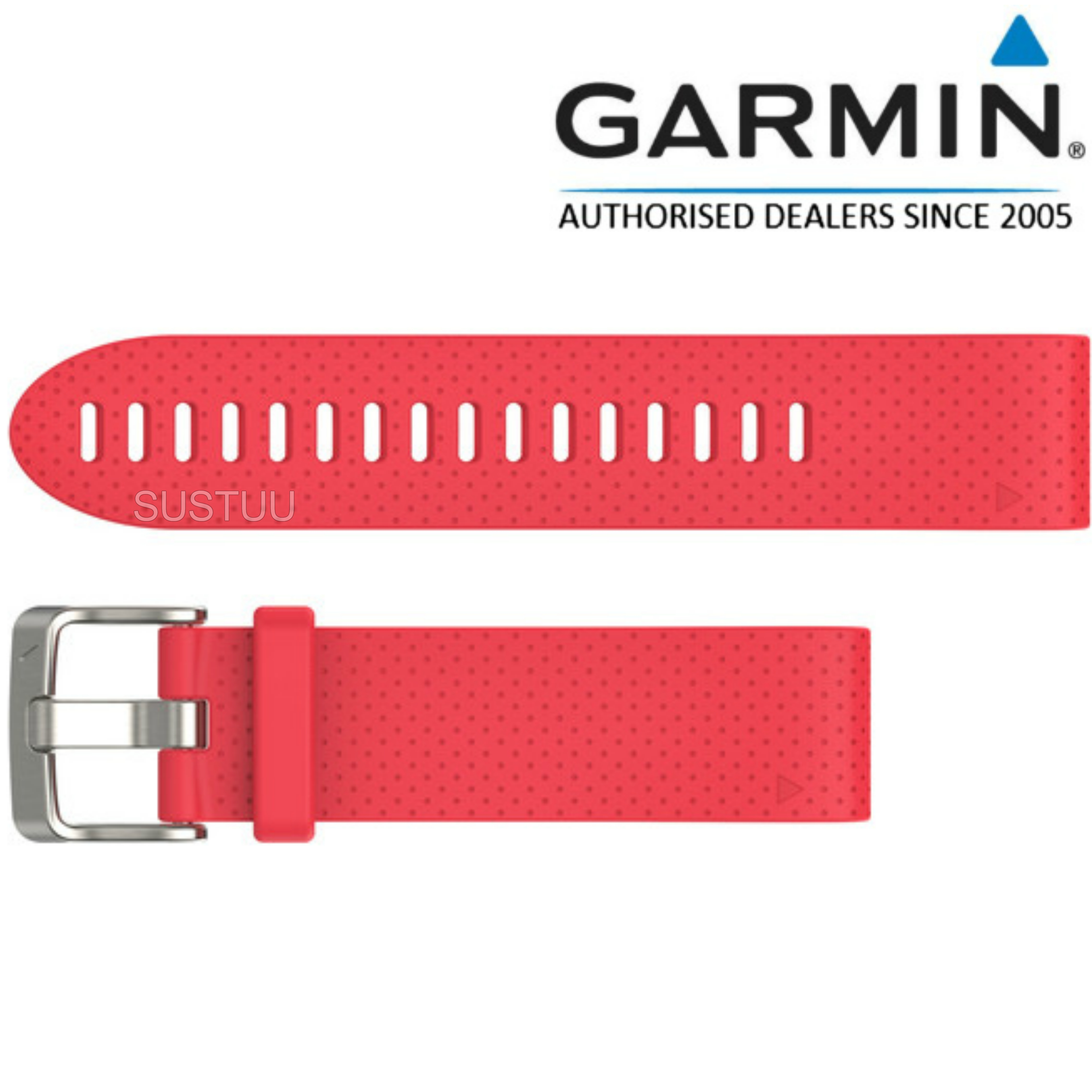 Garmin QuickFit Interchangable Watch Strap Band | 20mm | For Fenix 5s | Silicon-Pink