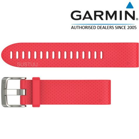 Garmin QuickFit Interchangable Watch Strap Band | 20mm | For Fenix 5s | Silicon-Pink Thumbnail 1