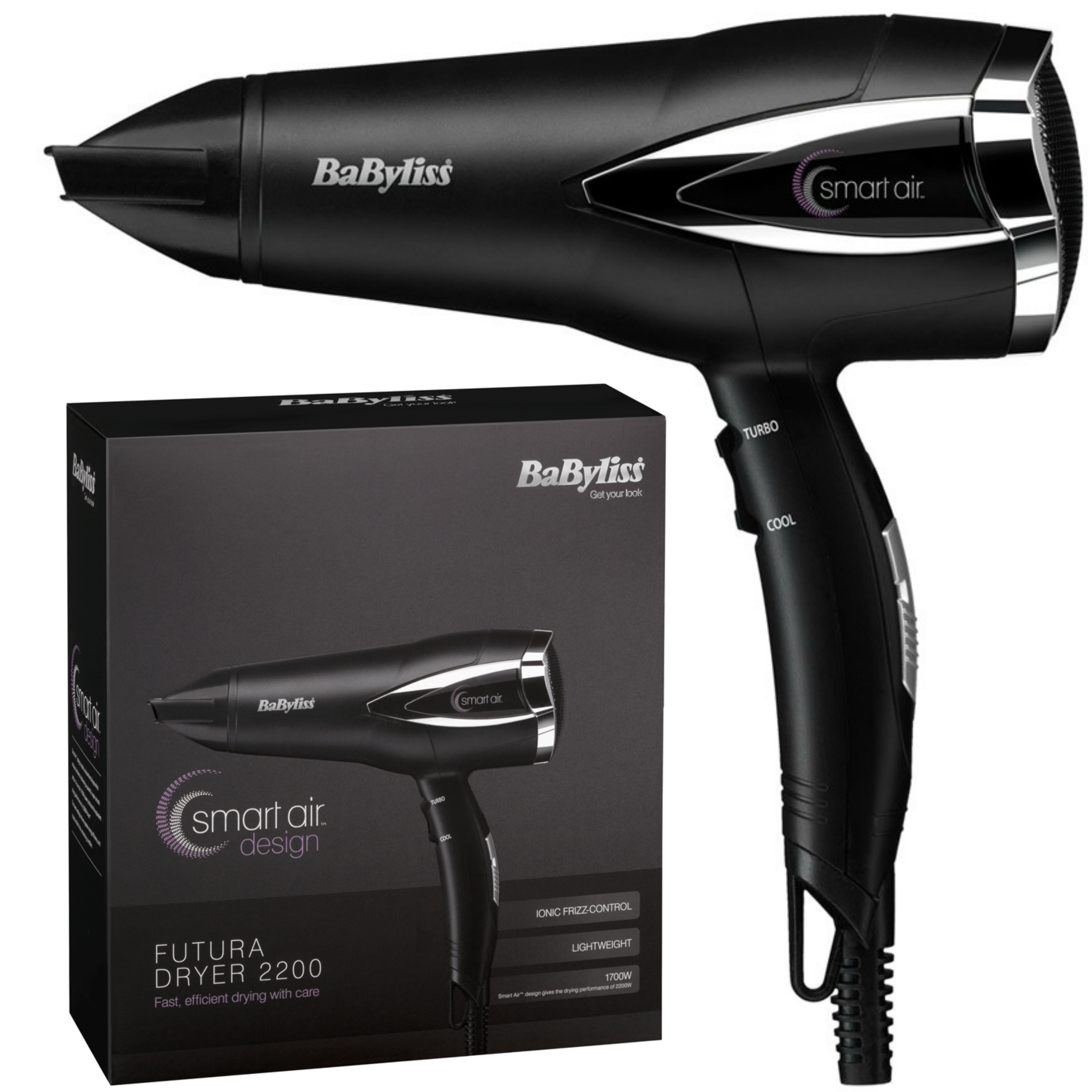 Babyliss 5361U Futura Hair Dryer|3 Heat & 2 Speed Setting|1700W|Frizz Control|