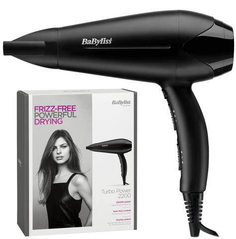 Babyliss New 5563U Turbo Powerful Hair Dryer|3 Heat & 2 Speed Mode|2200W|Black| Thumbnail 1