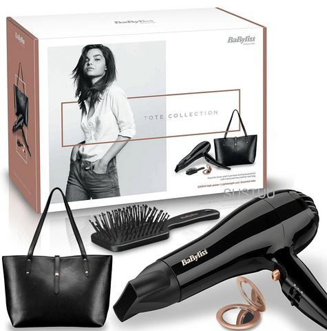 Babyliss New 5748AGU Hair Dryer|2200W|3 Heat|Handbag|Brush|Mirror|Gift Set|Black Thumbnail 1