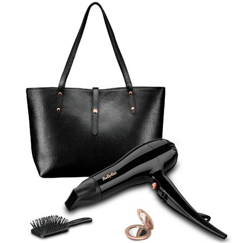 Babyliss New 5748AGU Hair Dryer|2200W|3 Heat|Handbag|Brush|Mirror|Gift Set|Black Thumbnail 2