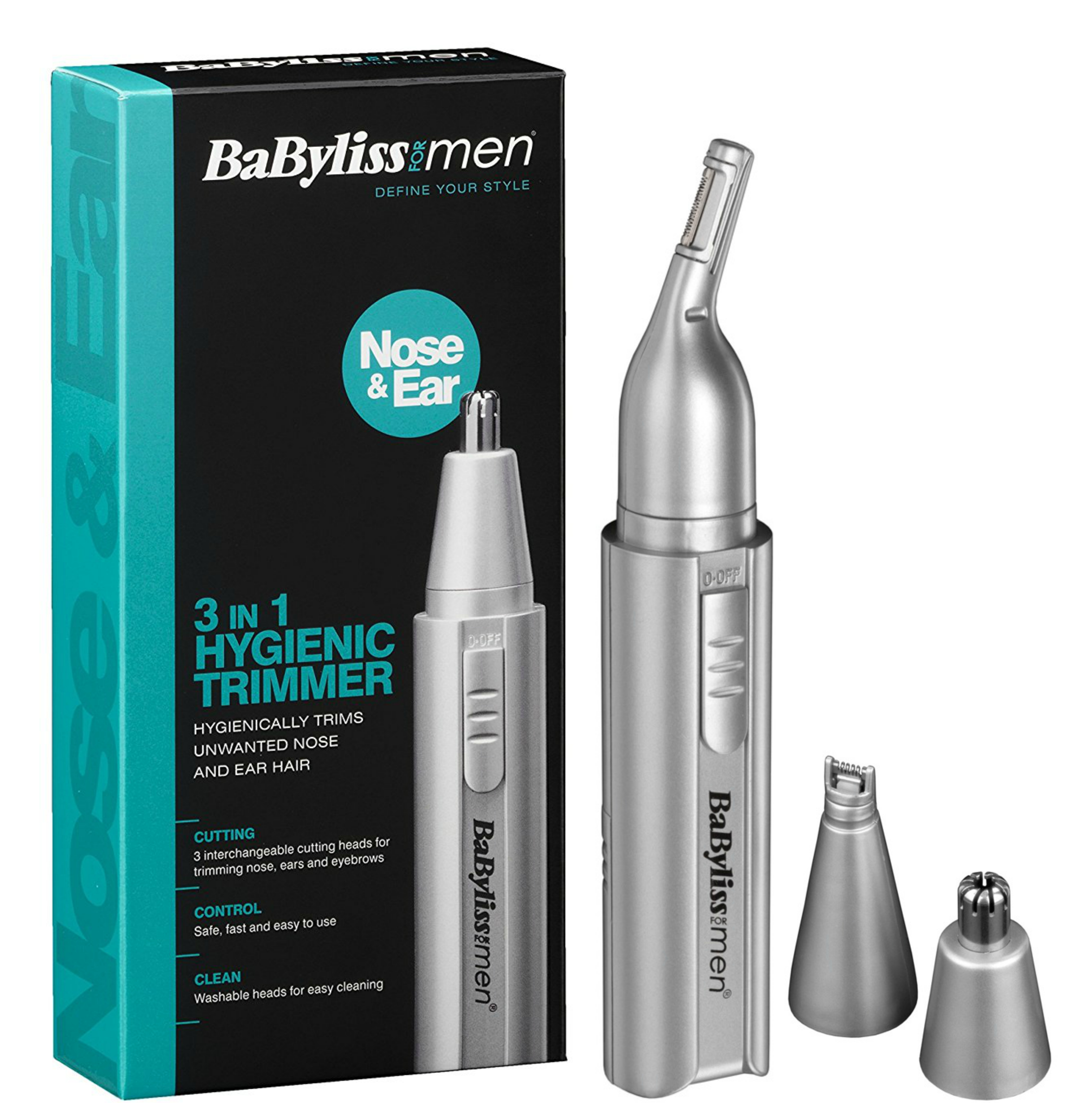 Babyliss 7051BU Men's Moustache/Eyebrow/Ear/Nose Battery Operated Mini Trimmer