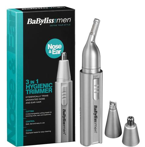 Babyliss 7051BU Men's Moustache/Eyebrow/Ear/Nose Battery Operated Mini Trimmer Thumbnail 1