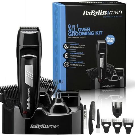 Babyliss New 7056CU Men's 8 In 1 Cordless Grooming Trimmer Kit|Face & Body Hair| Thumbnail 1