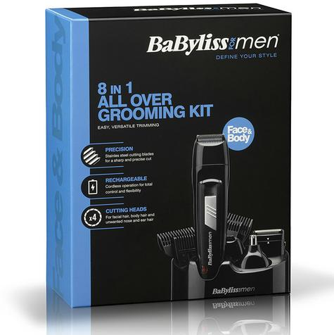 Babyliss New 7056CU Men's 8 In 1 Cordless Grooming Trimmer Kit|Face & Body Hair| Thumbnail 5