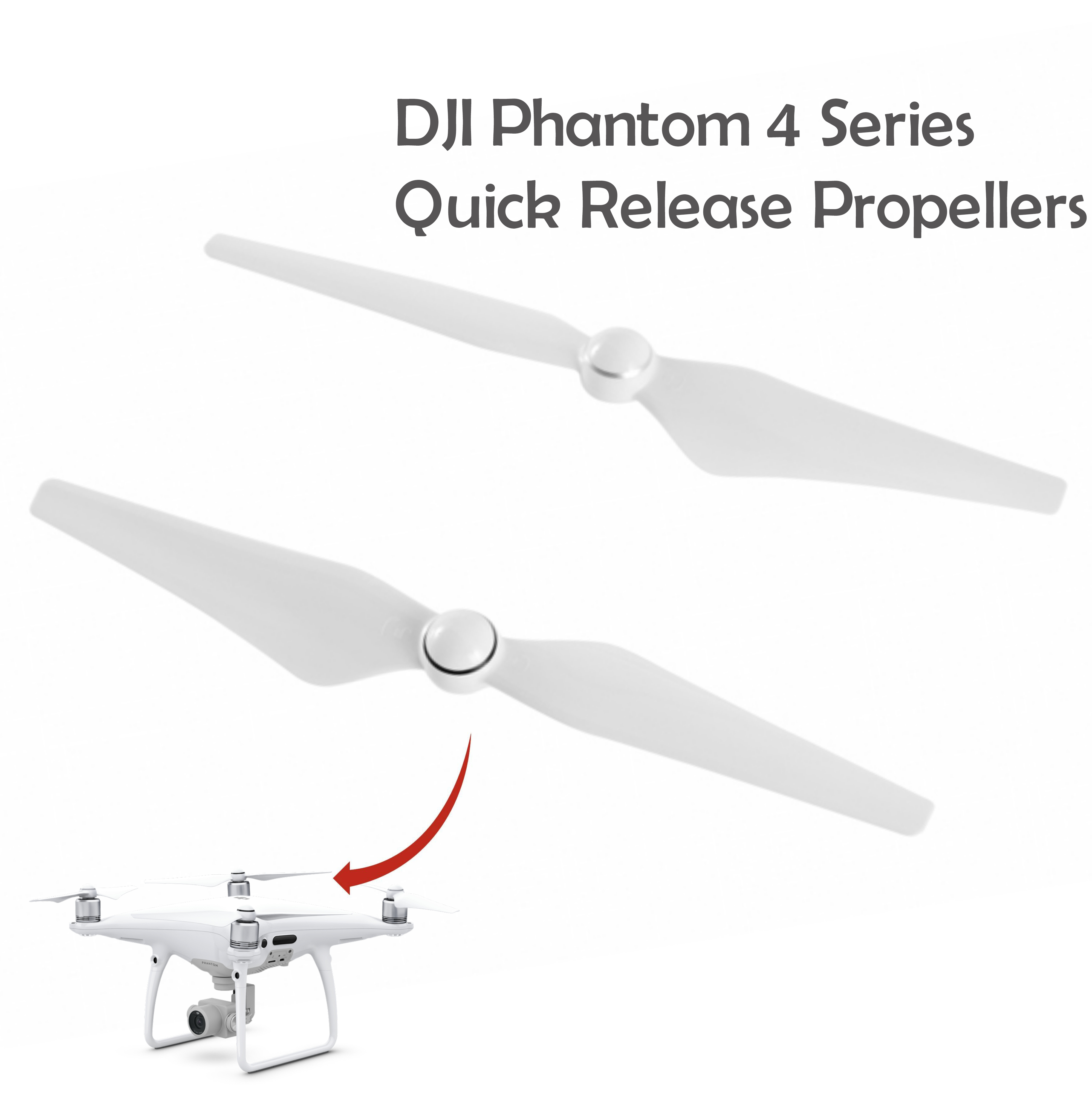 DJI Phantom 4 Series Fast & Well Balanced Quick Release Propellers -CP.PT.000360