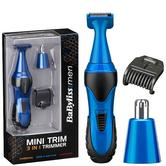 Babyliss New 7180U Men's 3 In 1 Cordless Trimmer Set|Eyebrows/Nose/Ear Hair|Blue