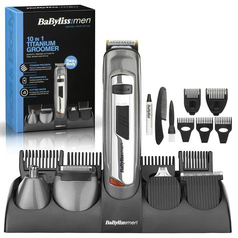 Babyliss New 7235U Men's 10 In 1 Titanium Grooming Beard/Nose/Ears Trimmer Kit Thumbnail 1