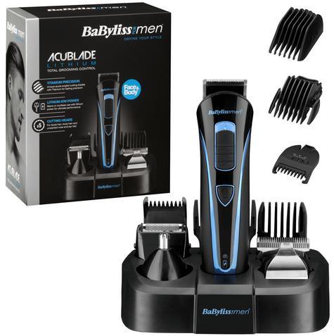 Babyliss Men's Face & Body Hair Trimmer/ Groomer Set?Acu Blade?Lithium Battery Thumbnail 1
