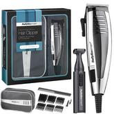 Babyliss New 7448BGU Men's Hair Clipper Gift Set|Mains Operated|6 Comb Guide|