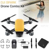 DJI SPARK Fly More Camera Drone Combo Kit|12MP|HD 1080p|CP.PT.000904|Sunrise Yellow