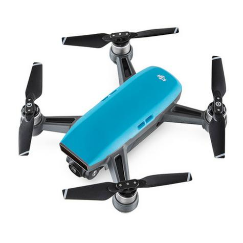 DJI SPARK Fly More Camera Drone Combo Kit|12MP|HD 1080p|CP.PT.000907|Sky Blue Thumbnail 3
