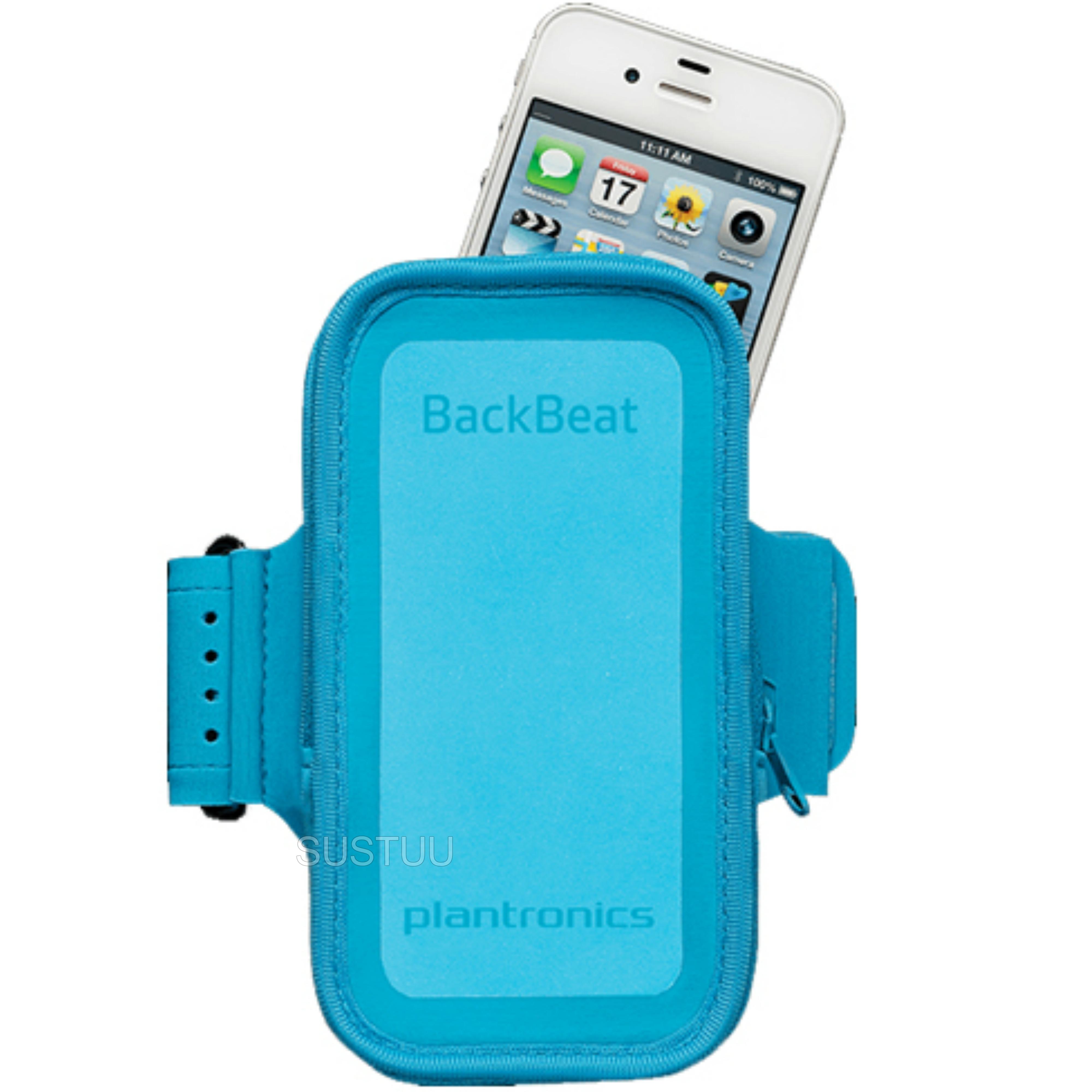 Plantronics Work Out Armband | Phone & Bluetooth Headset Holder | Backbeat Fit Blue