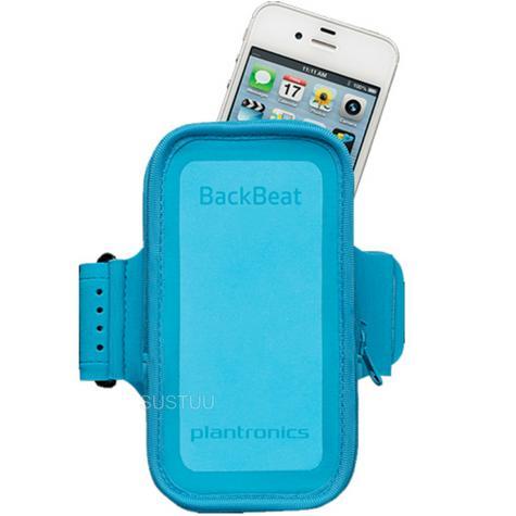 Plantronics Work Out Armband | Phone & Bluetooth Headset Holder | Backbeat Fit Blue Thumbnail 1